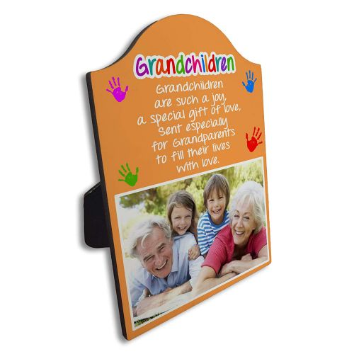 Personalised Grandchildren are Such A Joy Arch Top Photo Panel Frame Gift